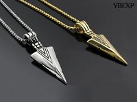 24 Men's Silver Gold Stainless Steel Sword Pendant Chain Necklace Good Gift