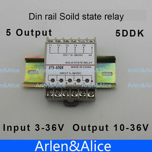Details about 5DDK 5 Channel Din rail SSR input 3~36VDC output 10~36VDC on