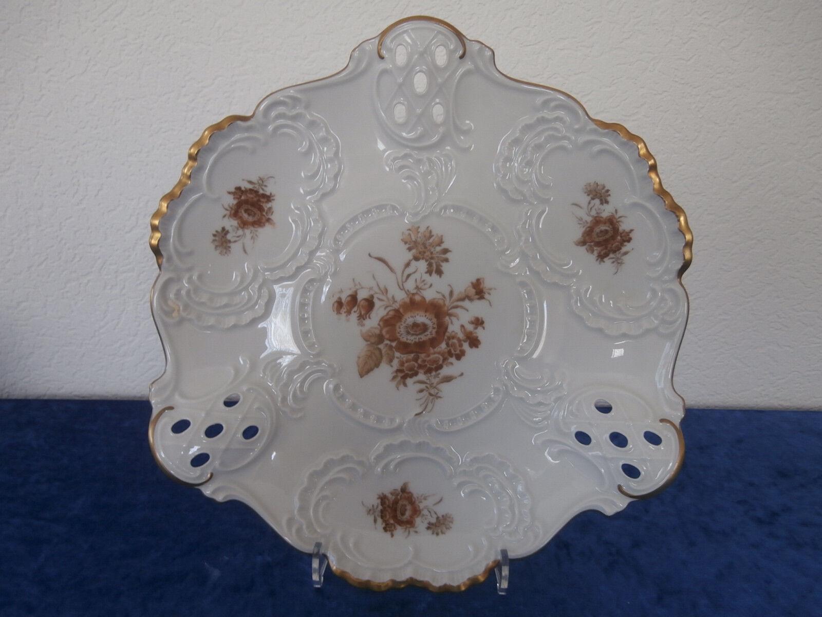 Lindner Anna Maria Braune Blüten große Schale Schale Schale  D. 30 cm.     | Sale Online  dfe988