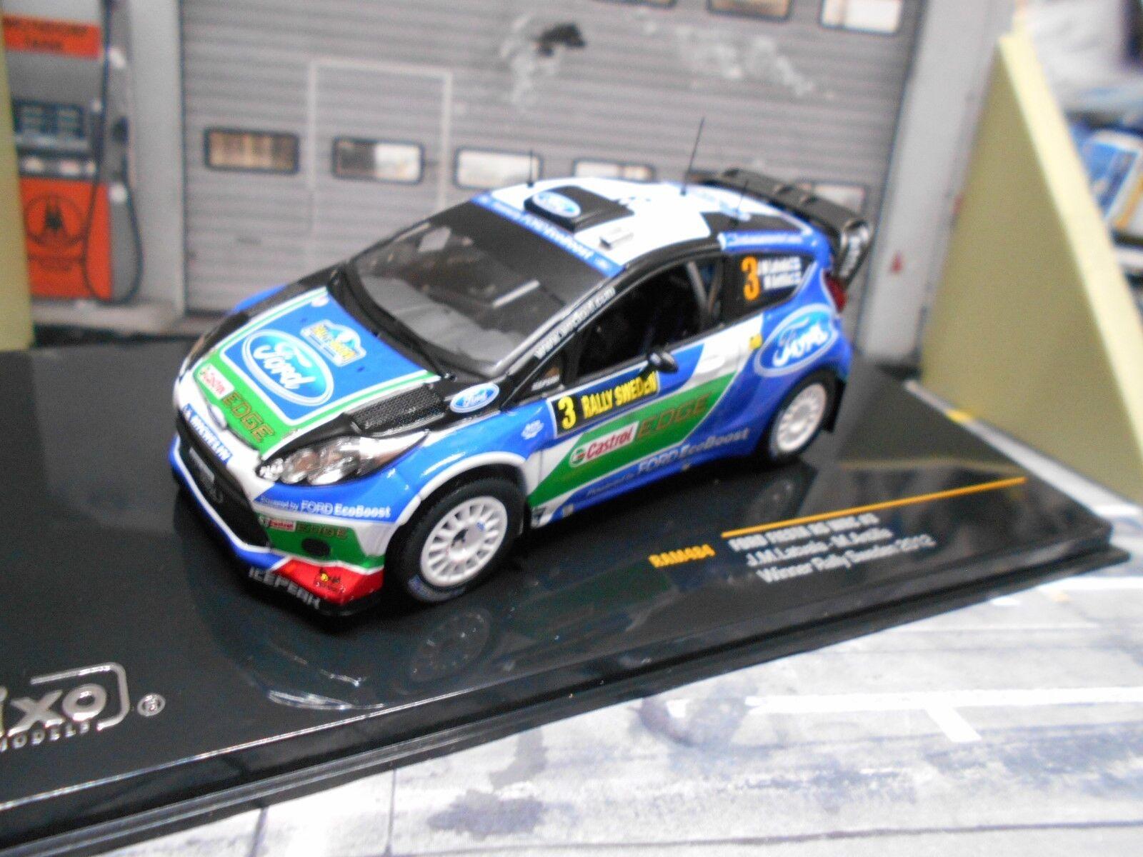 Ford Fiesta WRC RS Rallye Suède 2012  3 Latvala Edge CASTROL Ixo 1 43