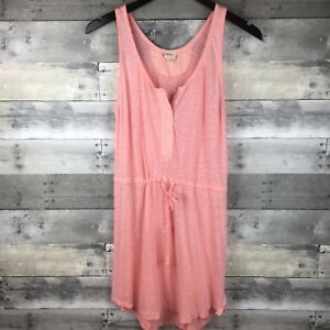 f048737475 Details about Wilfred Free Womens Size S Drawstring Tank Top Knit Dress  Pink Semi-Sheer Linen