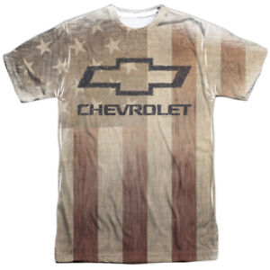 Authentic-Chevrolet-American-Made-Pride-Flag-Car-Logo-Sublimation-Front-T-shirt