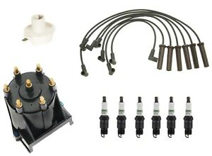 Ignition Kit Distributor Rotor Cap Wire Spark Plugs for Firebird Camaro