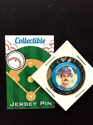 Baseball & Softball Flight Tracker New York Mets Keith Hernandez Pinback-mlb Klassisch Retro Collectible '86