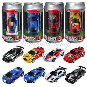 8 Color Coke Can Mini 1:58 4CH RC Radio Remote Control Micro Racing Car Gift Toy