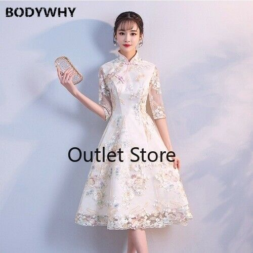 Vintage Chinese Wedding Dress Clothing Gown Marriage Cheongsam Qipao Dress