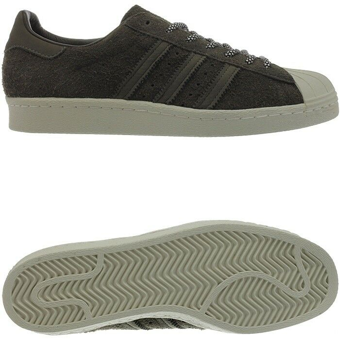 Adidas Superstar 80s zapatillas retro señores low Top zapatillas 80s marrón de 43a71e
