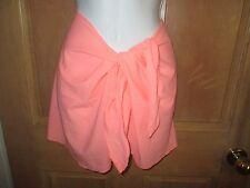 NEW BODY GLOVE OSFA BIKINI SWIMSUIT Cover UP Skirt Peach Sarong Pareo  S M L XL