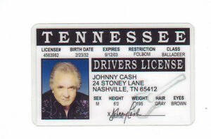 Johhny-Cash-the-Man-in-Black-plastic-ID-card-Drivers-License