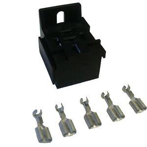12V Mini Relay Socket Block Holder Connector & Terminals Panel Mount Car  14-16