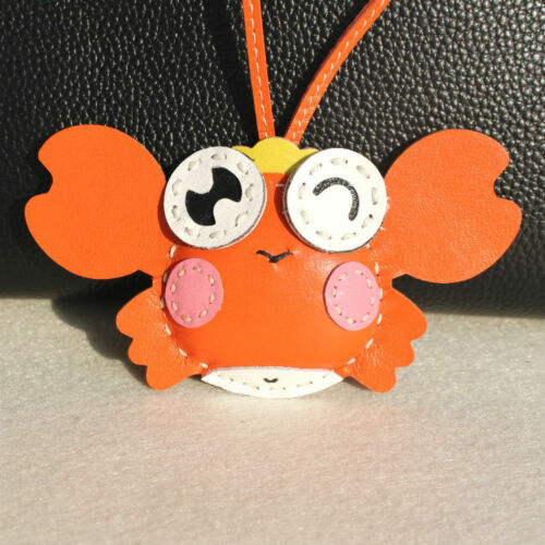 Genuine Leather Crab Herme Charm Perfect for Luxury Bags