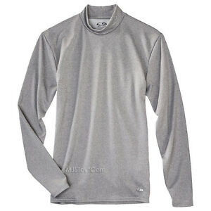 6d3bf1277bbf NWT C9 Champion Men Power Gray Core Warm Compression Shirt Cold ...