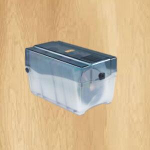 Innovera-CD-DVD-Storage-Case-Holds-150-Discs-Clear-Smoke-Key-lock-Hinged-lid