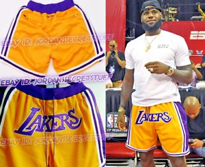 Image is loading Los-Angeles-Lakers-shorts-Lebron-James-basketball-big- c7ac05fc3a