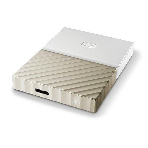 WD My Passport Ultra 1TB USB3.0 Portable Storage with Metal Finish WhiteGold