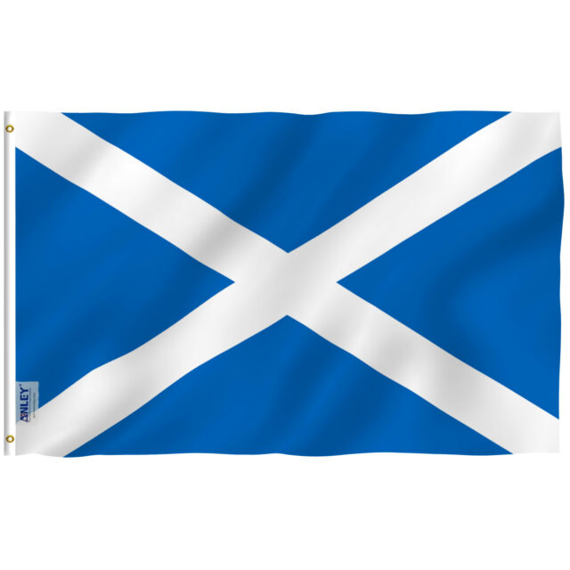 Anley Scottish Flag Scotland Banner Polyester 3x5 Foot ...