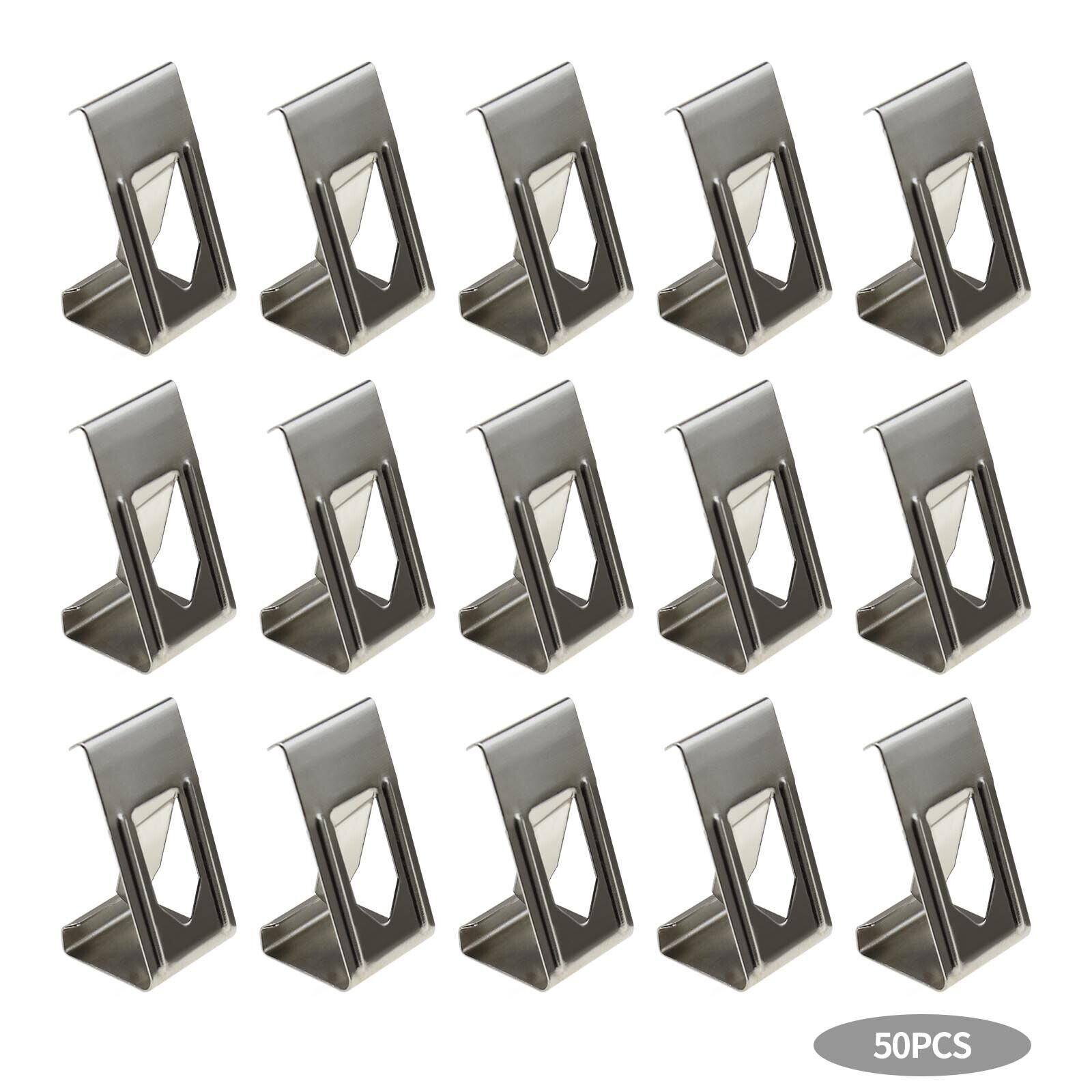 Silver Tone 3D Printer Glass Bed Clips Picture Frame Metal Holder Clamps x50