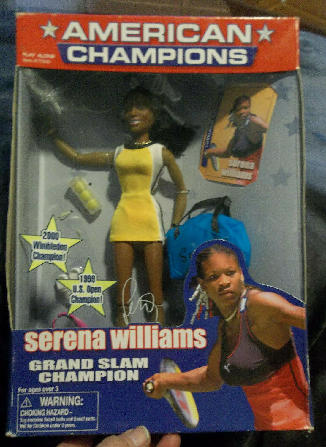 SERENA WILLIAMS American Champions GRAND SLAM CHAMPION Play Along Doll NEW