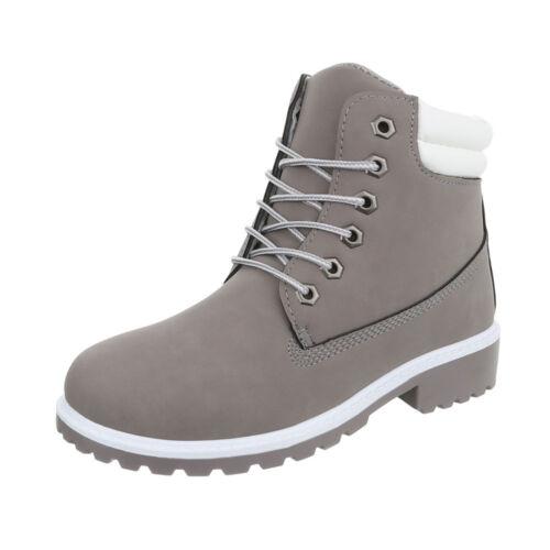 Schnür Boots Used Optik Schnürstiefeletten Damenschuhe 3461 Ital-design