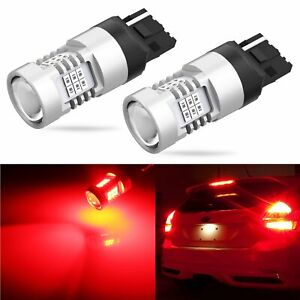 JDM ASTAR 2x 7443 7440 144-SMD LED Turn Signal Parking Lights Bulbs 6000K White