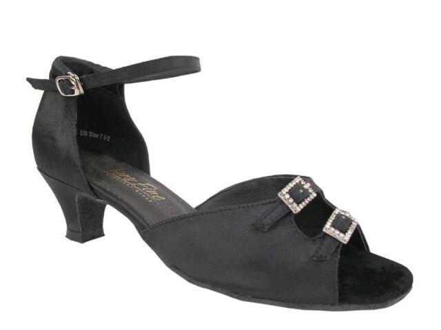 Women's West Coast Swing Salsa Ballroom Dance Shoes low Heel 1.3 Very Fine 1620