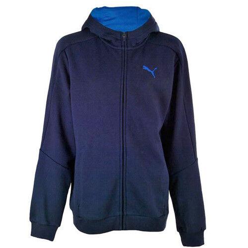 Puma Hero Full Zip Up Hoodie Dry Cell Kids Hooded Jumper Navy 838779 06 R2E