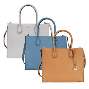 be8d8c844d7139 Image is loading Michael-Kors-Mercer-Large-Bonded-Leather-Tote-Choose-