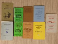 Lot of 9 Railroad Train Booklets Penn Central Safety Rules Trouble Shooting