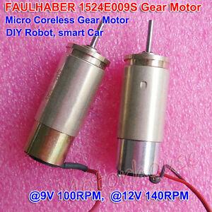 FAULHABER-DC-Micro-Gear-Motor-1524E009S-12V-140RPM-15-3-141-1-DIY-Robot-Car