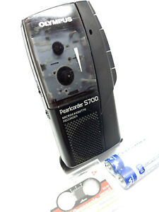 Olympus-S700-MicroCassette-Pearlcorder-Voice-Recorder-Dictaphone-Dictation-Black