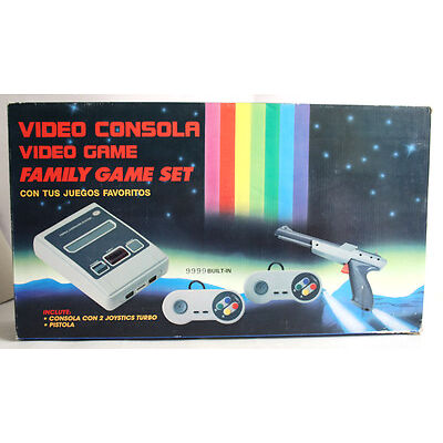 VERY RARE VINTAGE 90'S VIDEO GAME FAMILY SNES KO CLONE CONSOLE BRAND NEW MIB !
