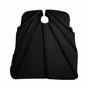 Profesional-Peluquero-Capa-Daily-negro-con-sisa-comoda-Capote-de-peluqueria