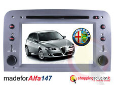 "NAVIGATORE AUTORADIO GPS ALFA ROMEO 147 GT GPS LCD TOUCH HD 7""USB CANBUS MP3 RDS"