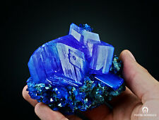 CHRISTMAS GIFT THE BEST !! XXL Electric Blue CHALCANTHITE on Matrix from POLAND