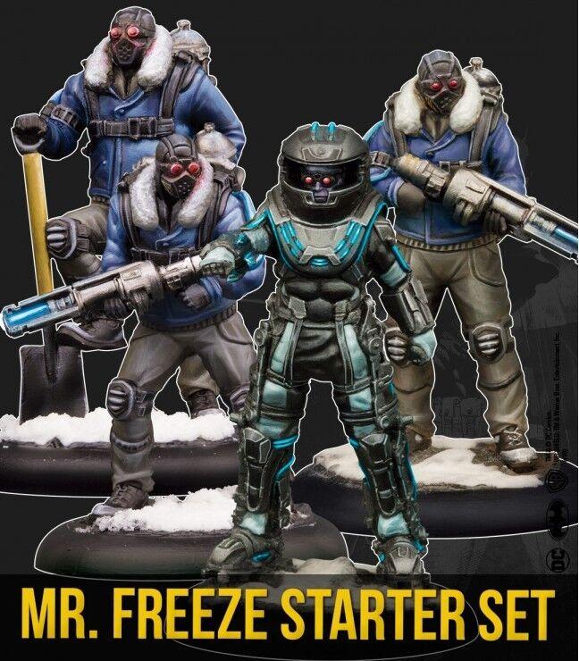 Batman Miniature Game - Mr Freeze Crew Starter Set 4 x Figures, Bases, Cards