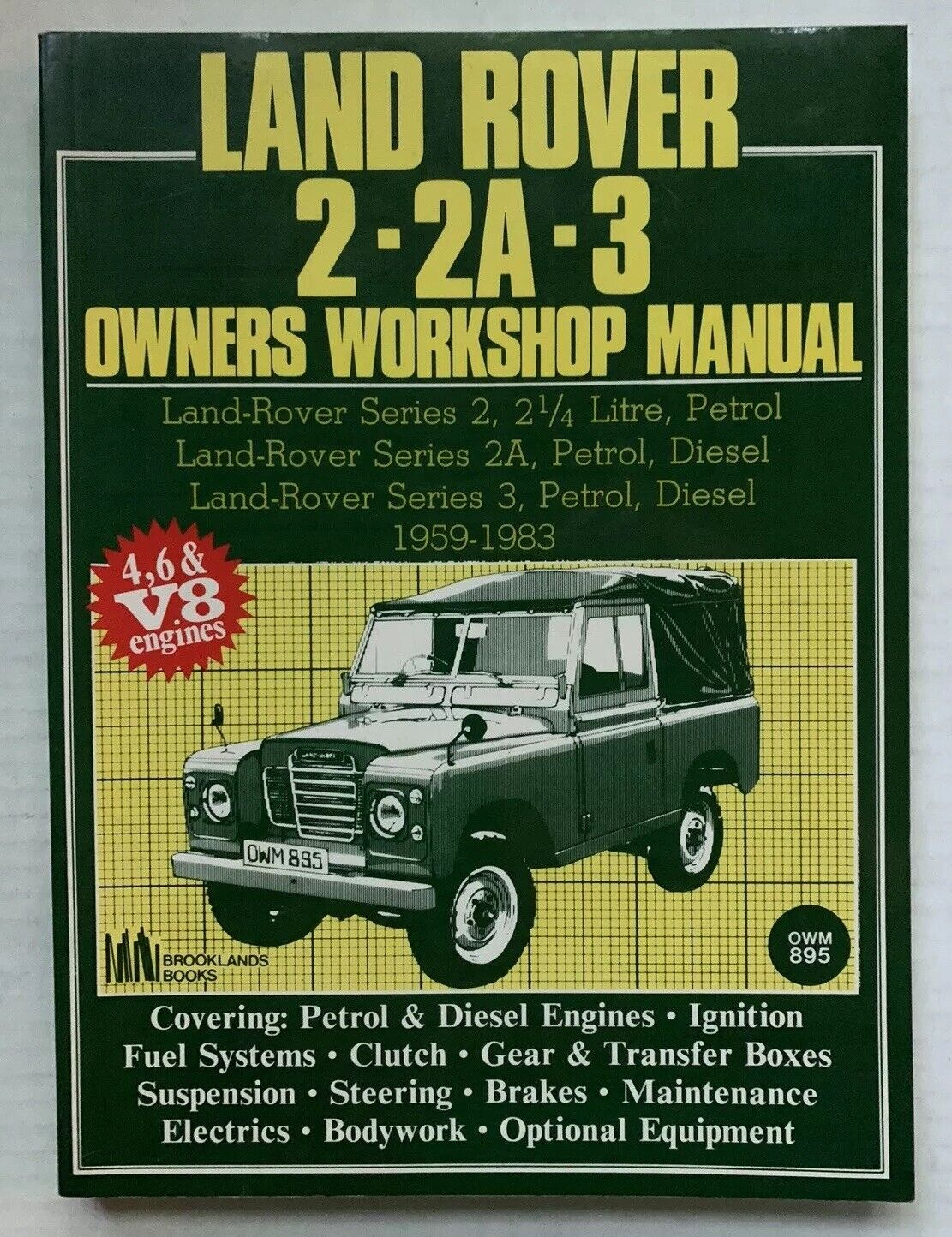 Land Rover Series 2 2A 3 Petrol Diesel 1959-1983 Workshop Manual Service Repair