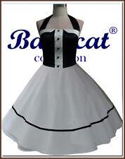 50er Jahre Tanzkleid Vintage Mode Petticoat Kleid Brautkleid NEU 34-48 C801S