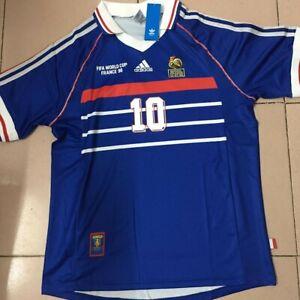 New France 98 Zinedine Zidane World Cup Jersey L Ebay