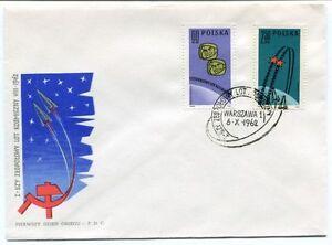 1962 I-szy Zespolowy Kosmiczny Vii Pierwszy Dzien Obiegu Warszawa Polska Space Effet éVident
