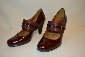 Sofft-8-5M-Maroon-Patent-Leather-Mary-Janes-womens-ladies-heels-shoes-1045710