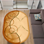 miniature 1 - Ovaler Teppich Wollteppich 100% Schurwolle Modern APART SE Beige versch. Größen