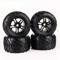 1/8 Scale RC Monster Truck Block Tire & D5 Wheel 4PCS Fit Traxxas 26401