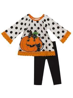UB Baby Girls Pumpkin Patch Halloween Clothes Thanksgiving Outfit