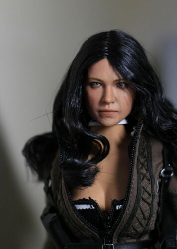 1//6 Michelle Rodriguez Head Sculpt Fast /& Furious For Hot Toys Phicen Figure USA
