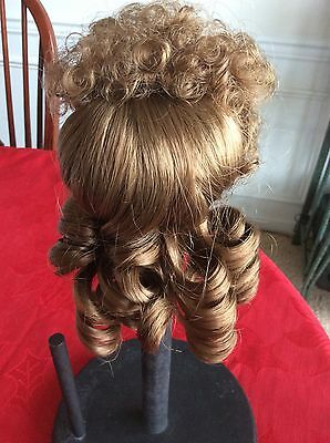 """Brown Sausage Curls Works for Hat 9/"""" Lt Chapeau NEW LA SIOUX DOLL WIG 8/"""""""