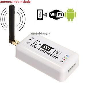 12v wireless wifi bluetooth v40 rgb led strip light controller for image is loading 12v wireless wifi bluetooth v4 0 rgb led aloadofball Gallery