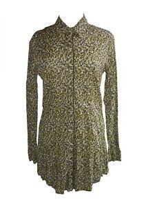 74ba02aaf32 Blouse Tunic Top Long Long Sleeve Button Row Revers Collar Size 38 ...