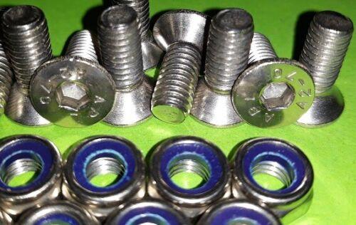 10 Chequer Plate Allen Key Screws /& Nuts Land Rover 90 110 130 Defender STAINLSS