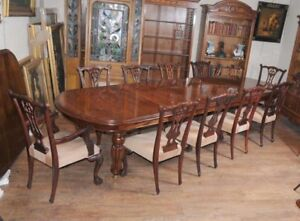 Image Is Loading Victorian Dining Table Set Chippendale Chairs Set Suite