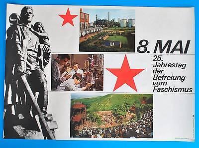Ausdauernd Ddr Plakat Poster 1428 | 8. Mai 1970 25. Jt Der Befreiung | 81 X 58 Cm Original